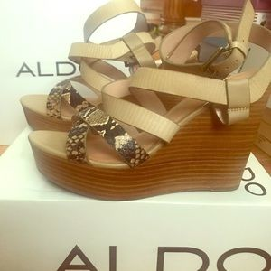 Like NEW strappy wedge sandals by ALDO - Size 40